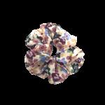 Scrunchie hvid med blomster