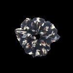 Scrunchie-sort-med-mørke-blomster