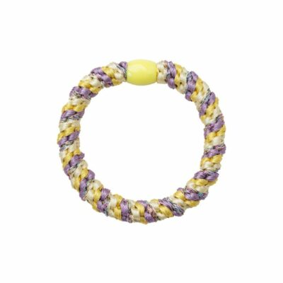 BY STÆR hårelastik - Multi lilla, gul glitter
