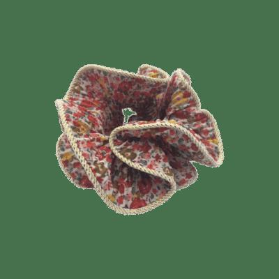BY STÆR Lilje Scrunchie - Multi rød med blomster