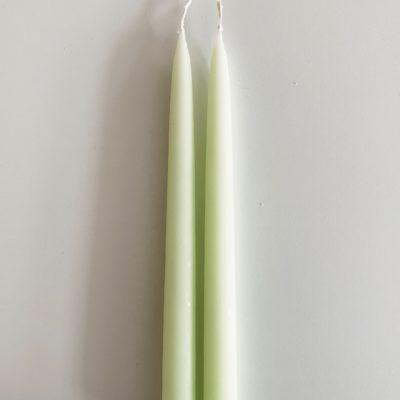 2. stk stearinlys - Pastelgrøn
