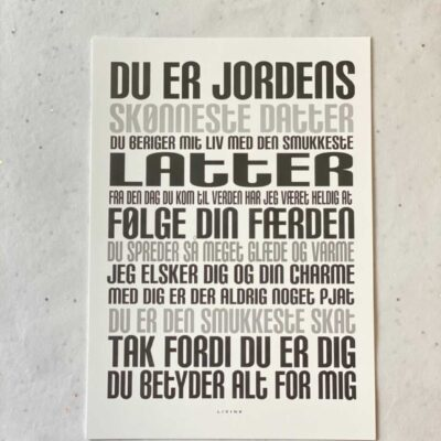 Kunstkort - DATTER