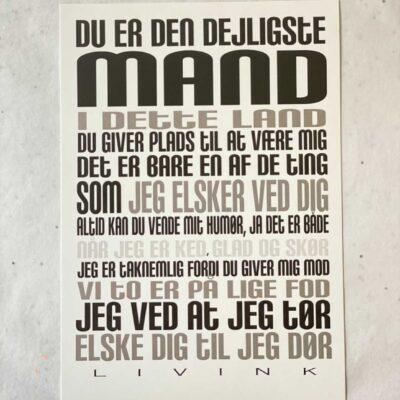 Kunstkort - MAND
