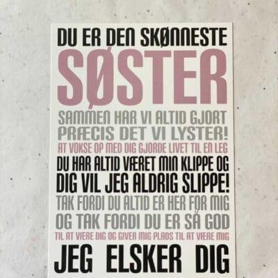 Kunstkort - SØSTER