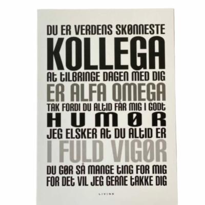 Kunstkort - KOLLEGA