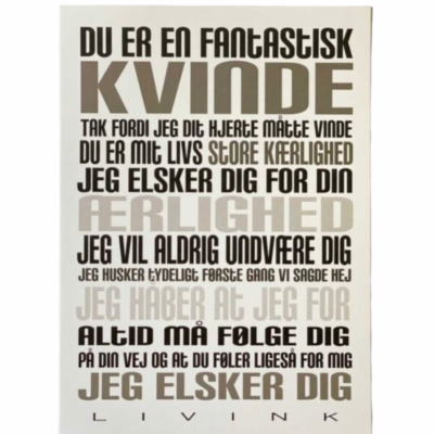 Kunstkort - KVINDE