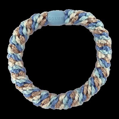 BY STÆR hårelastik - Multi blå glitter