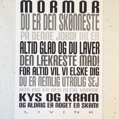Kunstkort - MORMOR