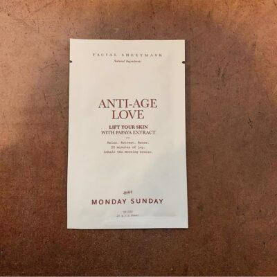 Ansigtsmaske - Anti-age love