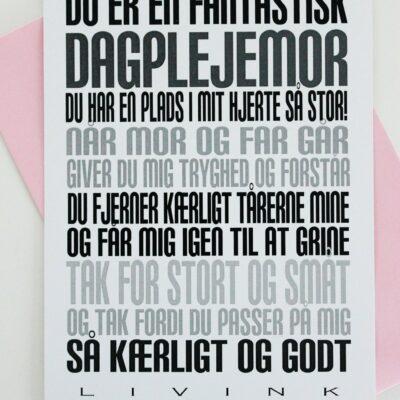 Kunstkort - DAGPLEJEMOR